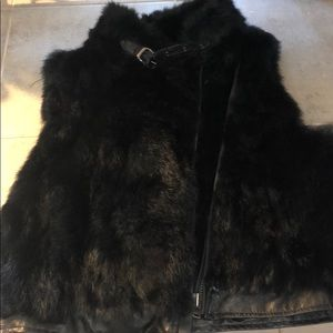 100% rabbit fur Saks 5th Ave VEST